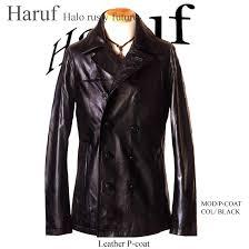 pea coat p coat men s horse leather antique simple leather coat military leather jacket pcoat bk