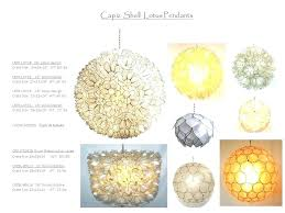 full size of white capiz lotus blossom chandelier s trimmed to shape and individually assembled by
