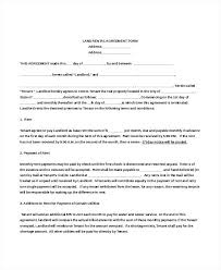 Rental Agreement Form Templates Samples Doc Free Landlord Lease
