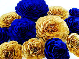 12 navy gold royal blue large paper