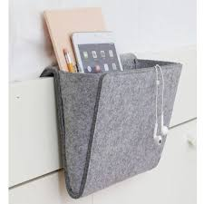 felt fabric hanging sofa side storage bag portable cell phones remote control holder organizer over armchair
