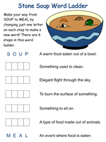 Then invite each child to write the directions for making stone soup. Stone Soup