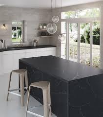 kitchen furniture white. Black Fittings And Furniture, White Worktops, Flooring Wall Facing \u2014 Or Vice Versa Kitchen Furniture