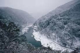 Nature Landscape River Winter Mountain Forest Snow