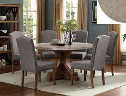 Round marble top dining table set Pedestal Detailed Images Amb Furniture And Design 1211t54 Pc Vespa Brown Finish Wood Round Marble Top Dining Table Set