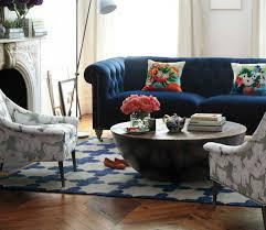 interior design tips blue velvet chesterfield sofa cover