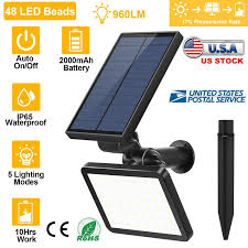 Solar Powered Automatic Lights Details About 48 Led 960lm Solar Powered Flood Light Outdoor Yard Garden Spot Lamp Waterproof