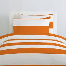 orange horizontal stripe duvet cover  carousel designs