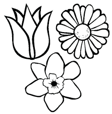 Flower Coloring Pages Simple Simple Flower Coloring Pages Coloring
