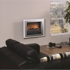 dimplex bizet wall mounted electric fire black or white outer frame silver trim bzt20n 044761