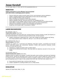 25 Construction Worker Resume Sample Free Sample Resume
