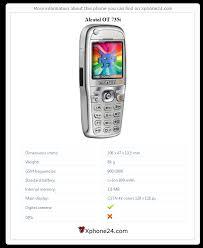 Alcatel OT 735i To your site ...