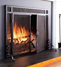spark guard fireplace screens this is a fire screen and doors all in one large spark spark guard fireplace screens