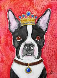 king boston terrier dog painting by petartmelindadalke