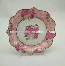 Pink Flower Paper Plates Flower Paper Plates Custom Design Disposable Decorative Sunflower