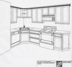 l shaped kitchen drawing best l shaped kitchen layout