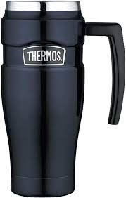 You can call it a coffee thermos, an insulated tumbler, or a travel mug but no matter what, these will keep your coffee hot long enough for you to enjoy it. Amazon Com Thermos Stainless King Sk1000 Vacuum Insulated Travel Mug 16 Ounce Midnight Blue Insulated Mugs Kitchen Dining