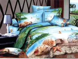 print quilt bedding for girls 3d beach palm tree bedding comforter sets queen size duvet cover bedspread bed
