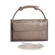 Snakeskin Designer Bags Amazon Com Luxury Genuine Python Leather Hand Bags Cross