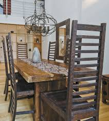 rustic dining room lighting. Rustic Contemporary Dining Room With Eclectic Lighting Design N