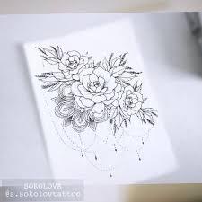 Tattoo Flowers Peony Sketch Sketch Tattoos Flower Tattoos и