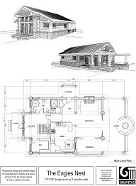 one story log cabin plan for one story log house plans