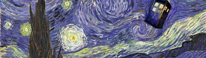 3840x1080 doctor who starry night tardis vincent van gogh ultra or dual high