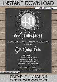 50th birthday invitation templates free free 40th birthday invitations templates quinnbrettler com