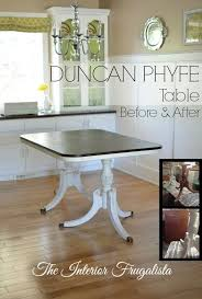 i gave a thrift duncan phyfe dining table a new life with chalk paint and dark walnut stain