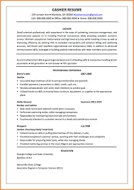 Resume For Cashier Example Resumethank You Sample Letters College