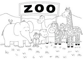 Coloring Pages Of Zoo Animals School Coloring Pages Animal For