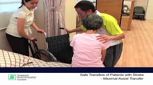 transfer techniques for patients with stroke part 1 maximal assistance transfer you