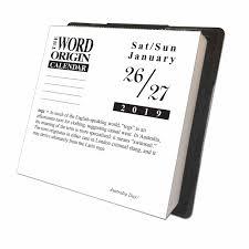 Word Origin Word Origin Desk Calendar 2019 Calendar Club Uk