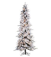 Slim Flocked Pencil Pine Artificial Christmas Trees  Treetime Slim Flocked Christmas Trees Artificial