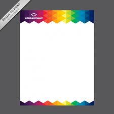 Download Vector Coloured Letterhead Template Vectorpicker