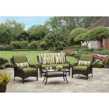 image of better homes and gardens amelia cove 4 piece woven patio throughout patio conversation