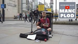 Busking Man on Corporation Street, Manchester [4k60fps] - YouTube