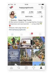 create a yoga insram profile that pops