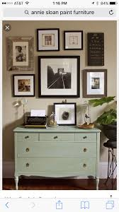 mixture of frames colors with mint dresser