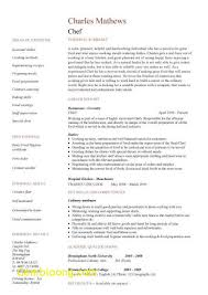 Chef Cv Templates Lovely Chef Resume Sample Examples Sous Chef Jobs