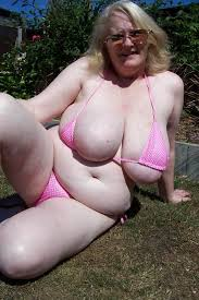 Naked big breasted granny