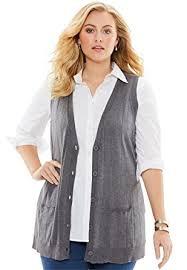 plus size cardigans on sale roamans womens plus size fine gauge long sweater vest at amazon