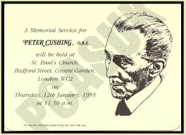 memorial service invitation petercushingblog blogspot com pcasuk peter cushing st pauls