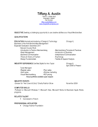 Cv Template Visual Merchandiser Sample Resume For Retail