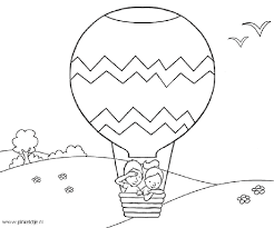 Small Picture Hot Air Balloon Coloring Page Bebo Pandco