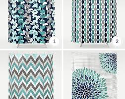 teal and gray shower curtain. teal shower curtain - teal, grey, navy, white print curtains and gray
