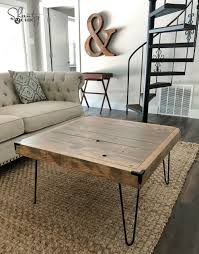 image of hairpin leg coffee table square