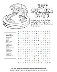 Small Picture Summer Coloring Pages And Puzzles Coloring Pages