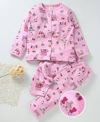 Baby Night Dress Design Baby Naturelle Me Full Sleeves Night Suit Allover Baby