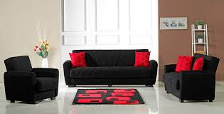 FurniPlanet Buy Black Red Perfect Contemporary Living Room